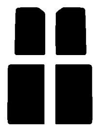 送料無料●リヤーサイドガラスのみ 簡単ハードコート ホンダ バモスホビオ HJ1・HJ2 HM3・HM4カット済みカーフィルム