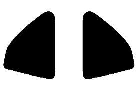 送料無料●リヤーサイドガラスのみ 簡単ハードコート ホンダ プレリュード BB5・BB6・BB7・BB8カット済みカーフィルム