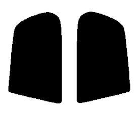 送料無料●リヤーサイドガラスのみ 簡単ハードコート ホンダ ロゴ 3ドア GA3・GA5 カット済みカーフィルム