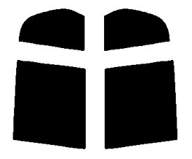 送料無料●リヤーサイドガラスのみ 簡単ハードコート ホンダ ロゴ 5ドア GA3・GA5カット済みカーフィルム
