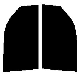 送料無料★ 運転席、助手席 ステップワゴン RF3・RF4 前期カット済みカーフィルム カラーハードコート