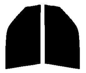 送料無料☆スパッタシルバー 運転席、助手席 ステップワゴン RF1・RF2カット済みカーフィルム ハードコート 代引き注文不可