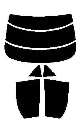 2層構造フィルム マツダ アテンザ セダン GG3P・GGEP カット済みカーフィルム ハードコート リヤーセット 38ミクロン 簡単ハードコート