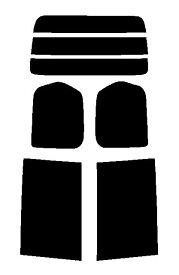 送料無料●2層構造フィルム ニッサン セレナ C26・FNC26・HFC26・NC26・FC26・HC26 カット済みカーフィルム ハードコート リヤーセット 38ミクロン 簡単ハードコート