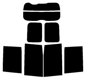リヤーガラス、サイドガラス、別色指定可能2層構造フィルム トヨタ エスクァイア ZRR80G・ZRR85G・ZWR80G カット済みカーフィルム ハードコート リヤーセット 38ミクロン
