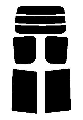 2層構造フィルム トヨタ ノア ZRR70G・ZRR75G・ZRR70W・ZZR75W カット済みカーフィルム ハードコート リヤーセット 38ミクロン 簡単ハードコート