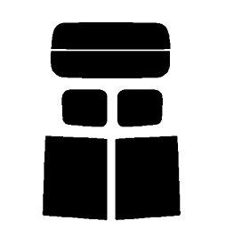 ○送料無料○ルーミー M900A M910A カット済みカーフィルム ハードコート リヤーセット