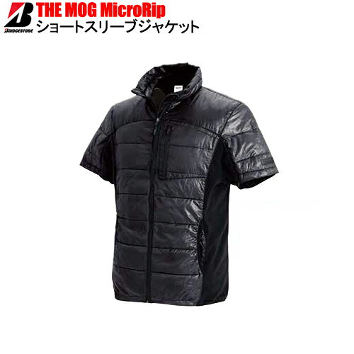 ブリヂストン(ブリジストン)THE MOG MicroRip Short Sleeve JACKETマイクロリップショートスリーブジャケット(ブラック)※半袖ジャケット 作業着 作業服 仕事着
