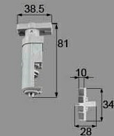 トステム 浴室中折れドア上部ヒンジ可動側セット(シルバー)  DCZZ306 DCZZ301