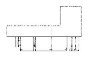 クリナップ スロープ用端部キャップRWY2494R