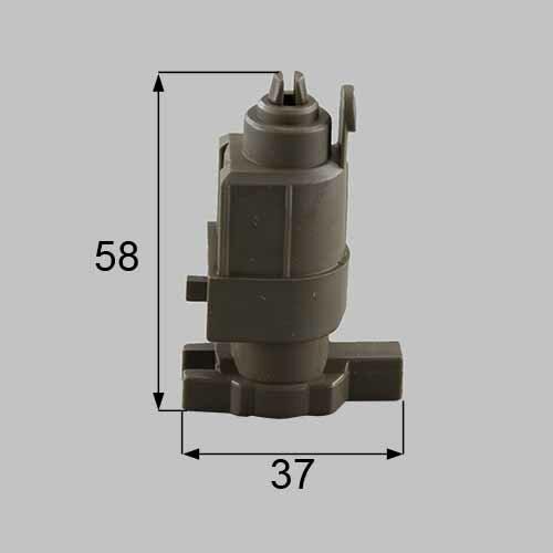トステム 浴室中折れドア下部ヒンジ固定側セット  DCZZ319