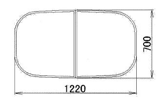 トステム レフィノ 浴槽組みフタ(2枚組み) RMBX028