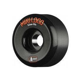 【ミニロゴ ウィール】Mini Logo Wheels A-cut BLACK 53/55mm 90a ●BONES ボーンズ