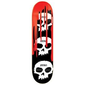 ゼロ スケートボード デッキ 7.75x31.1 ZERO Deck 3 SKULL BLOOD BLACK