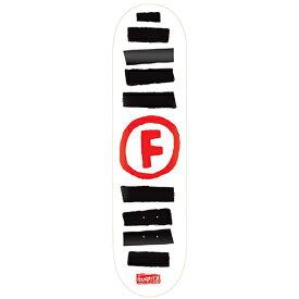 ファンデーション デッキ FOUNDATION Deck DOODLE STRIPE WHITE 8.5x32.38 Midium Concave