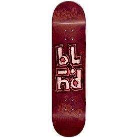 ブラインド スケートボード デッキ 8.0x31.5 BLIND Deck OG STACKED STAMP RHM RED FULL CONCAVE / STEEP KICK