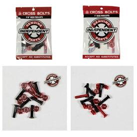 【インディ ボルトナット】Independent Genuine Parts PHILLIPS HARDWARE 7/8インチ、1インチ Black/Red 「スマートレター対応」