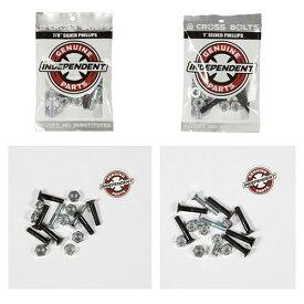 【インディ ボルトナット】Independent Genuine Parts PHILLIPS HARDWARE 7/8インチ、1インチ Black/Silver 「スマートレター対応」