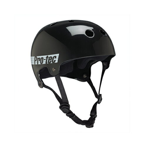 【プロテック ヘルメット】PRO-TEC HELMET BUCKY GLOSS BLACK RETRO XS●プロテクター パッド/キッズ・ガールズ
