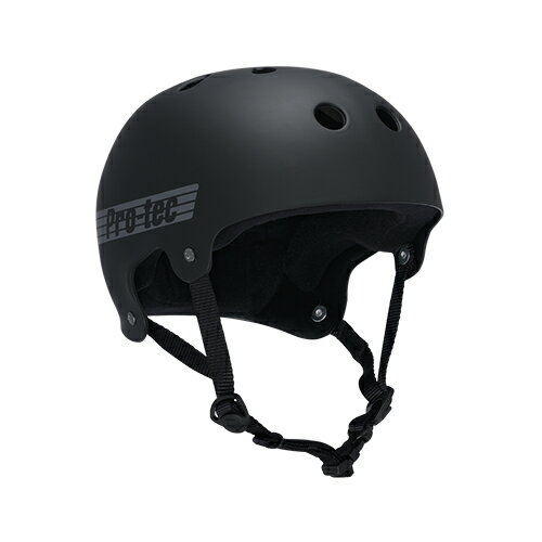 【プロテック ヘルメット】PRO-TEC HELMET BUCKY RUBBER BLACK S/M/L/XL●プロテクター パッド
