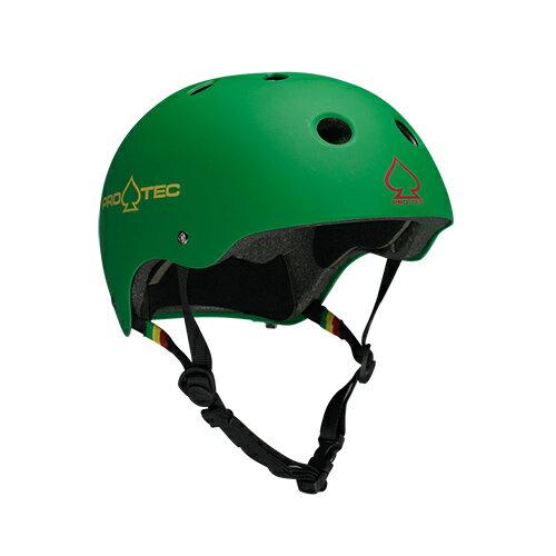 【プロテック ヘルメット】PRO-TEC HELMET CLASSIC CERT MATTE RASTA GREEN XS●プロテクター パッド/キッズ・ガールズ