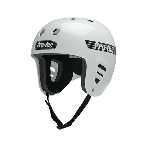 【プロテック ヘルメット】PRO-TEC HELMET FULLCUT SKATE (GLOSS) WHITE XS●プロテクター パッド/キッズ・ガールズ