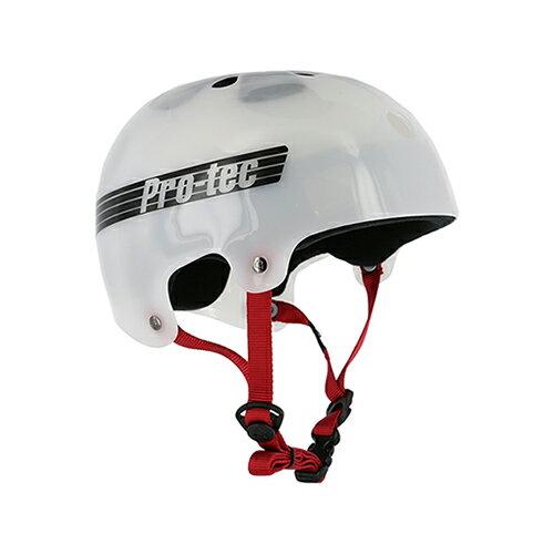 【プロテック ヘルメット】PRO-TEC HELMET BUCKY TRANSLUCENT WHITE S/M/L/XL●プロテクター パッド