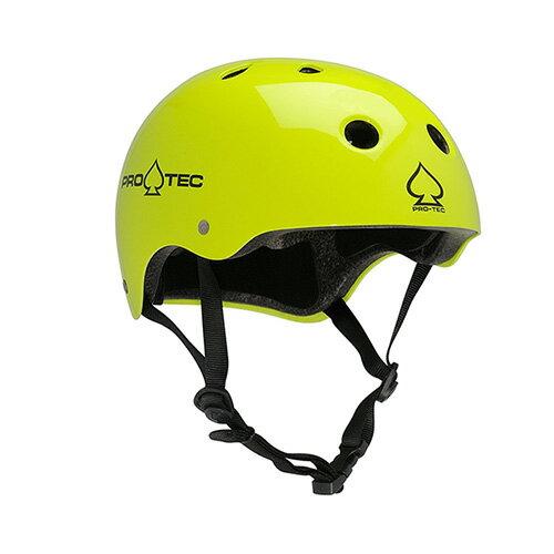 【プロテック ヘルメット】PRO-TEC HELMET CLASSIC GLOSS YELLOW S/M/L/XL●プロテクター パッド