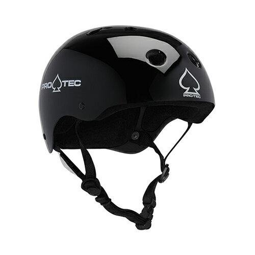 【プロテック ヘルメット】PRO-TEC HELMET CLASSIC SKATE GLOSS BLACK XS●プロテクター パッド/キッズ・ガールズ