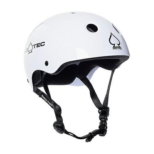 【プロテック ヘルメット】PRO-TEC HELMET CLASSIC SKATE GLOSS WHITE XS●プロテクター パッド/キッズ・ガールズ