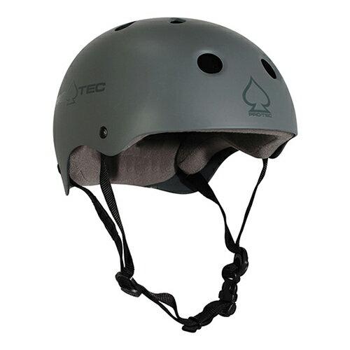 【プロテック ヘルメット】PRO-TEC HELMET CLASSIC SKATE MATTE GRAY XS●プロテクター パッド/キッズ・ガールズ
