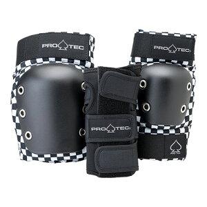 プロテック スケートボード パッド PRO-TEC STREET GEAR 3 PACK SET YOUTH CHECKER 子供用 プロテクター3点セット YOUTH S/YOUTH M