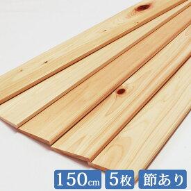 ヒノキ板 150cm×8.5cm 5枚セット 国産 ひのき 節あり it85w1500 板 木材 ヒノキ 桧 檜 板材 無垢 すのこ すのこ板 diy 桧板 檜板 ひのき板 スノコ 紀州ひのきや