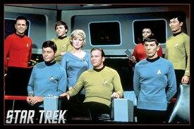 スター・トレック/映画ポスター Star Trek Crew On The Bridge フレーム付