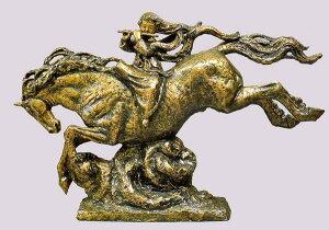 高岡銅器の大型ブロンズ/天女の笛 日本彫刻界の最高峰・北村西望作品