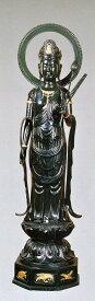 高岡銅器 仏像 聖観音円光背付 40号 般若純一郎作品 高岡銅器の神仏具/送料無料