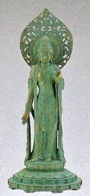 仏像/瑠璃観音 青銅色 松久宗琳作品 高岡銅器の神仏具/桐箱付