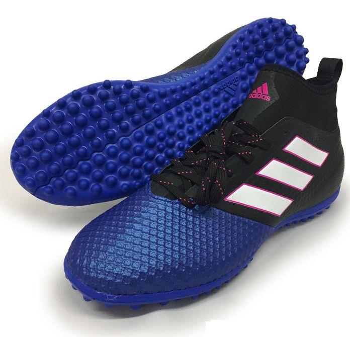 adidas エース 17.3 プライムメッシュ トレーニングシューズTF BB0863 ブラック×ホワイト×ブルー  アデイダス