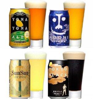よなよな 地ビール 飲み比べセット 350ml×4種 各6本 ( よなよなエール インドの青鬼 燦々オーガニック 東京ブラック )