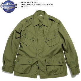BUZZ RICKSON'S バズリクソンズ COAT,MAN'S, COMBAT TROPICAL BR12247 送料無料 日本製 コンバットトロピカル シャツ ジャケット アメリカ軍 オリーブ 薄手