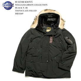 BUZZ RICKSON'S バズリクソンズ WILLIAM GIBSON COLLECTION BLACK N-3B THINSULATE FILLED BR14369 送料無料 フライトジャケット ウィリアム ギブスン ブラック