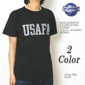 """BUZZ RICKSON'S バズリクソンズ S/S REFLECTOR T-SHIRT """"U.S.A.F. ACADEMY"""" BR78239"""