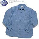 BUZZ RICKSON'S バズリクソンズ BLUE CHAMBRAY WORK SHIRT BR25995 送料無料 日本製 シャンブレー ワークシャツ インディゴ 海軍 …