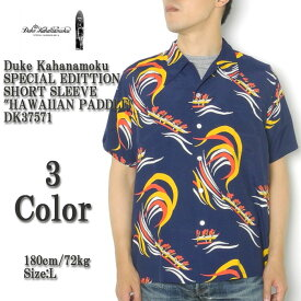 "DUKE KAHANAMOKU デューク カハナモク SPECIAL EDITTION SHORT SLEEVE ""HAWAIIAN PADDLE"" DK37571"