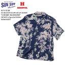 "SUN SURF サンサーフ S/S RAYON HAWAIIAN SHIRT ""CHERRY BLOSSOMS"" HINOYA Special Order SS36443HY"