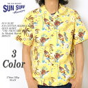 """SUN SURF サンサーフ by MASKED MARVEL S/S COTTON SEERSUCKER OPEN SHIRT """"THE FRONTIER ISLAND"""" SS38475  ≪新商品!≫"""