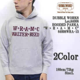 """DUBBLE WORKS ダブルワークス Lot.84008 HOODED PARKA """"W・R・A・M・C"""" 84008WRA-15"""