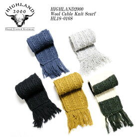 HIGHLAND2000 ハイランド2000 Wool Cable Knit Scarf HL18-016S