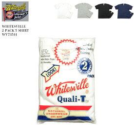 WHITESVILLE ホワイツビル 2PACK S/S TEE WV73544 2枚入り 日本製 パックT メンズ Tシャツ 大きいサイズ XL 3L ホワイト グレー ブラック ネイビー 東洋エンタープライズ