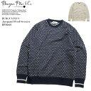 BURGUS PLUS バーガスプラス Jacquard Wool Sweater BP18603 送料無料 国産 日本製 ジャガード セーター ウール